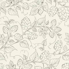 Hop seamless pattern.
