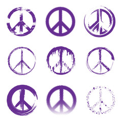 Grunge Peace Signs