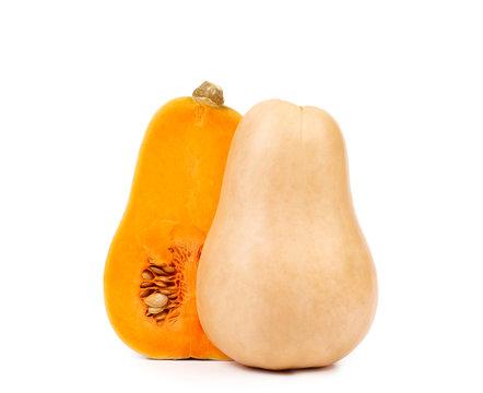 Butternut pumpkin and slice.