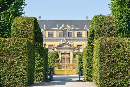 Golden gate in Herrenhausen Gardens, Hannover, Germany