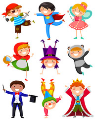 kids wearing different costumes