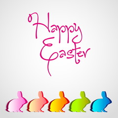 Happy Easter - collection of rabbit Bunny