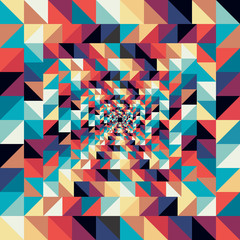 Foto auf Acrylglas ZigZag Colorful retro abstract visual effect seamless pattern.