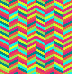 Autocollant pour porte ZigZag Retro abstract seamless pattern.