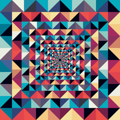 Photo sur Toile ZigZag Colorful retro abstract visual effect seamless pattern.