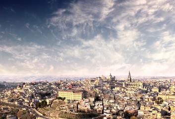 Panorama of ancient city of Toledo