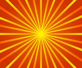 Orange Retro Sun Rays Backdrop