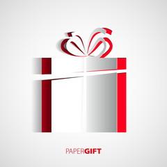 Christmas card with christmas present
