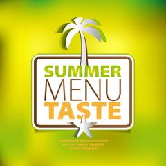 Summer menu taste theme