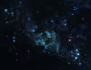 beautiful starry sky deep outer space