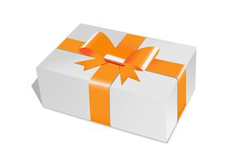 Obraz gift box orange - fototapety do salonu