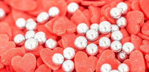 Heart shape confetti for cake decoration