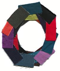 Letter O. Cotton texture.