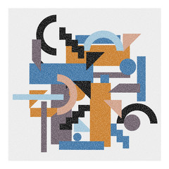 Abstract geometric background in cubism style