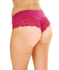 Bottom in panties.
