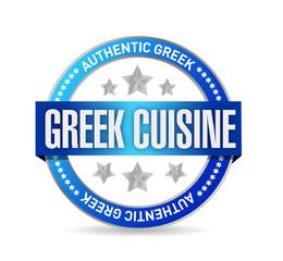 greek cuisine seal illustration design