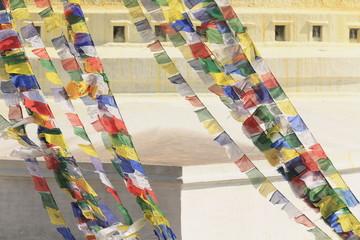 Boudhanath-Bodhnath stupa-bhuddist prayer flags. Kathmandu. 0317
