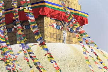 Eyes of the Buddha. Boudhanath-Bodhnath stupa. Kathmandu. 0315