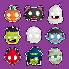 Halloween Head Stickers