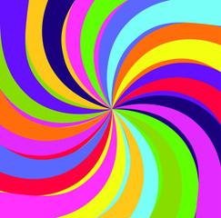Hypno rainbow abstract