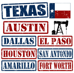 Texas Cities stamps