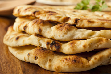 Homemade Indian Naan Flatbread Wall mural