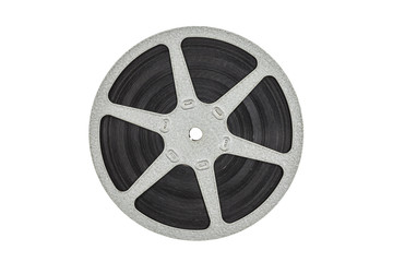 Old Metal Film Reel Isolated