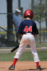 Young baseball lefty at bat