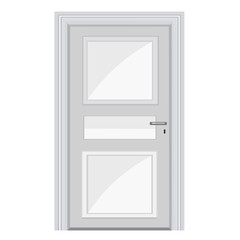 white door isolated illustration