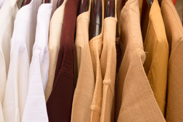 cotton clothes with hanger