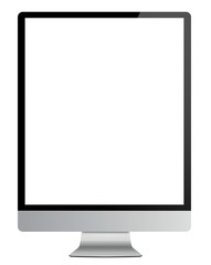 Computer isolated on white