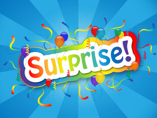 """SURPRISE!"" Card (happy birthday party celebration greeting fun)"
