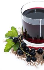 Isolated Black Currant juice
