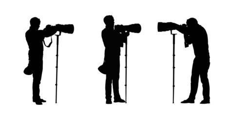 photographer silhouettes set 2