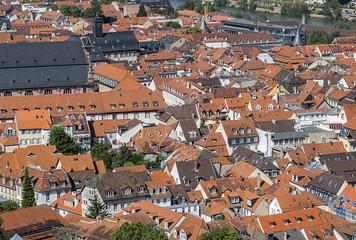 Stadtviertel Blick von oben auf die Stadt