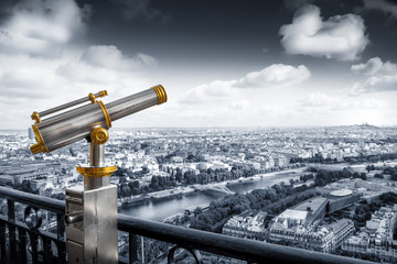 vista di Parigi dalla torre Eiffel