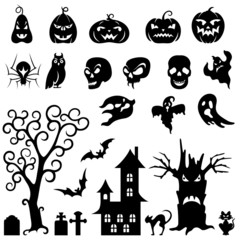 Set Of Halloween Silhouette