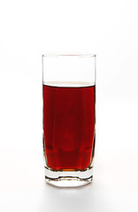 refreshing drink in a glass