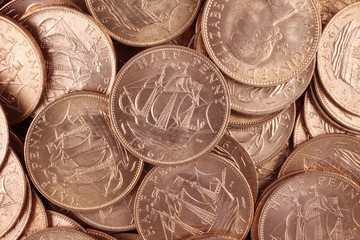 Uncirculated British Half Pennies