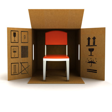 new modern chair product delivery