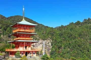 那智の三重塔と滝