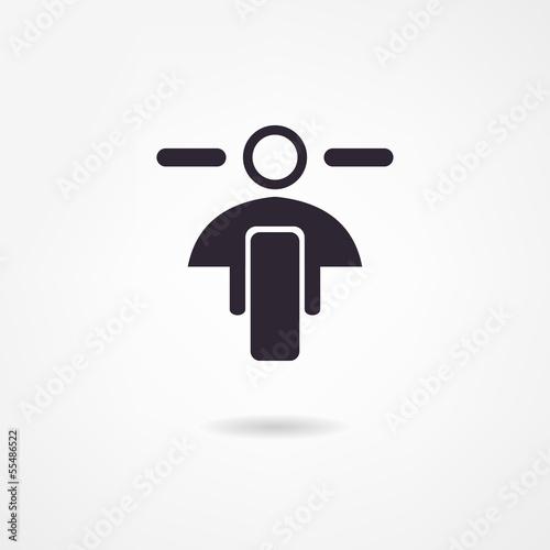 Fototapete motorcycle icon