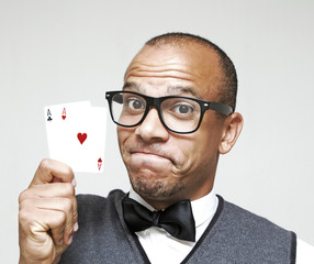 Geek Winning with Pair of Aces