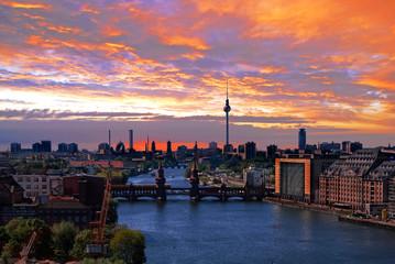 Poster Berlin berlin spree skyline