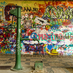 Water Well and a Graffiti Wall