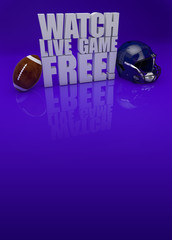 Watch live game 3D text - american football background