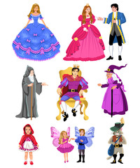 fairy tale characters costumes - Buy this stock vector and explore