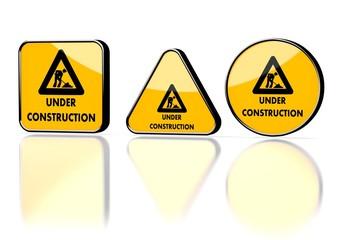exchanging diaper symbol on three warning signs