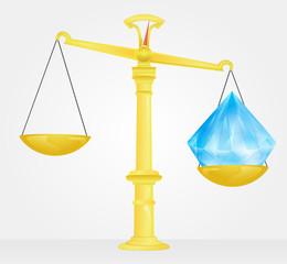 weight measure of diamond value vector