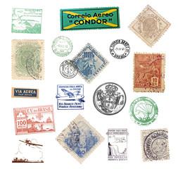 Briefmarken und Poststempel aus Brasilien